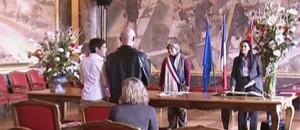 Première cérémonie pour des pacsés à Toulouse (7 novembre 2008)