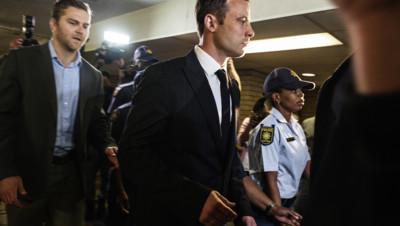 Osar Pistorius arrive au tribunal de Pretoria, le 11 septembre 2014