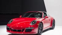 Porsche 911 Targa 4 GTS, modèle découvrable 4 roues motrices et moteur de 430 chevaux présenté au Salon de Detroit en janvier 2015