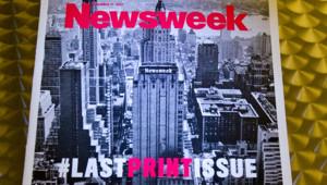 Dernier numéro papier de Newsweek, daté du 31 décembre 2012.