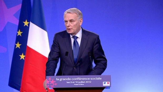 Le Premier ministre, Jean-Marc Ayrault, cloture la conférence sociale, mardi 10 juillet 2012.