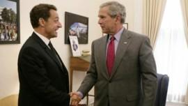 TF1/LCI Nicolas Sarkozy rencontre George W Bush