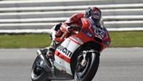 L'Italien Andrea Dovizioso au guidon de sa Ducati.