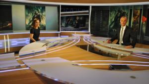 Natalie Portman sur le plateau de Gilles Bouleau sur TF1, le 24 octobre 2013