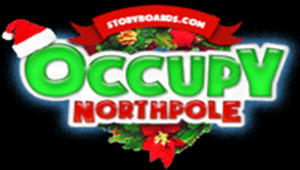"""Occupy North Pole"", site parodiant l'action du groupe ""Occupy Wall Street"" (décembre 2011)"