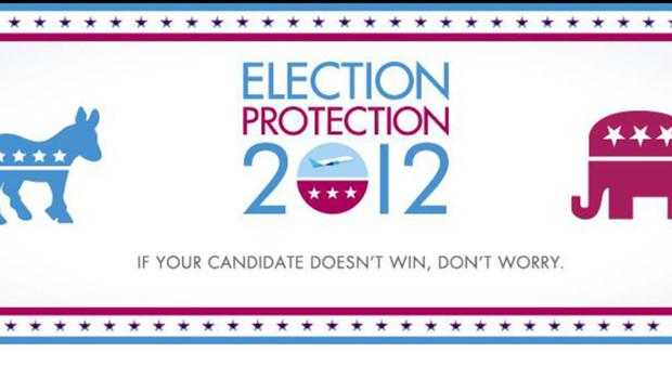 Capture d'écran de la page Facebook de Jetblue proposant un billet gratuit lors de l'élection américaine entre Barack Obama et Mitt Romney