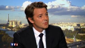 François Baroin sur le plateau du 20 h de TF1.