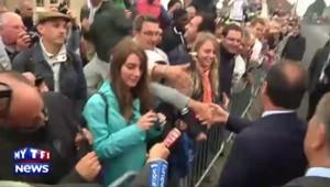 """Hollande sur le Tour de France : """"Vous avez vu, il ne pleut pas!"""""""