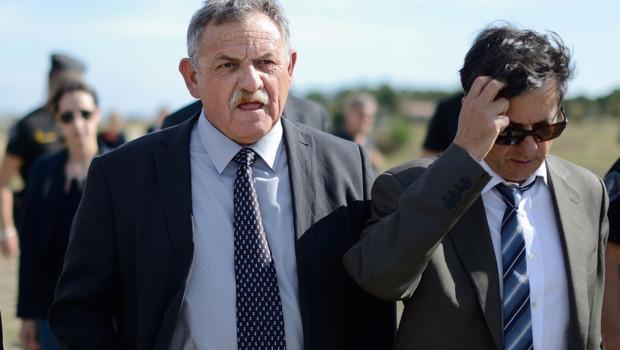 René Marratier, ancien maire de la Faute-sur-Mer avec son avocat Didier Seban