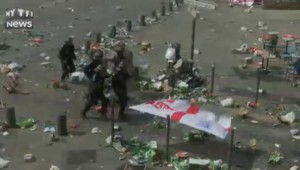 Angleterre-Russie: de nouveaux heurts éclatent à Marseille