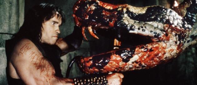 Arnold Schwarzenegger dans le film Conan le barbare