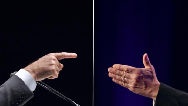 François Hollande et Nicolas Sarkozy/Photomontage