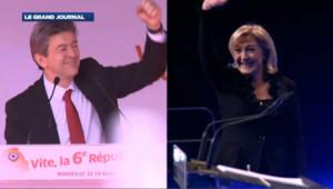 Marine Le Pen à Jean-Luc Mélenchon, Front contre Front