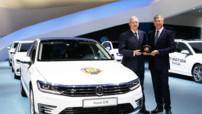 La huitième génération de la berline Volkswagen Passat élue Voiture de l'Année 2015 le 2 mars à Genève (Suisse).
