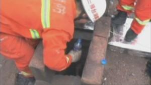 Un Chinois de 20 ans extrait d'une conduite d'aération par les pompiers.