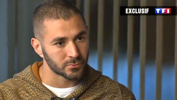 Karim Benzema dans une interview à TF1 enregistrée le 1er décembre 2015