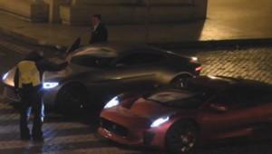 """Le tournage de """"Spectre"""", le prochain James Bond, à Rome."""