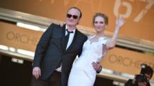 Quentin Tarantino et Uma Thurman lors du 67e Festival de Cannes en mai 2014.