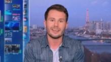 Benjamin Cruard sur le plateau de TF1 pour le 1er avril 2015.