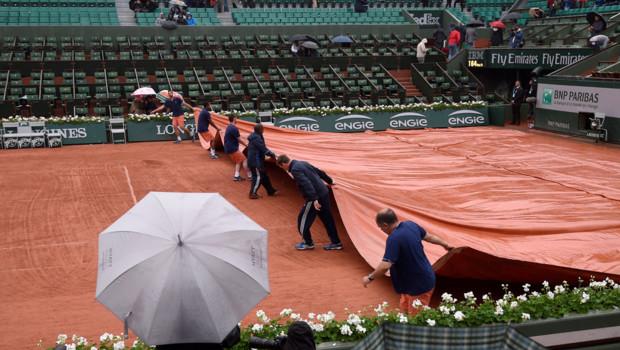 Roland-Garros sous la pluie, 31/5/16