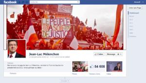 La page facebook de Jean-Luc Mélenchon.