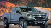 Le nouveau concept tout terrain de Chevrolet : le Colorado ZR2. La bête a été officiellement dévoilée lors du Salon de Los Angeles 2014.