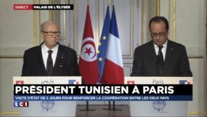"""Président tunisien à Paris : """"J'ai l'impression de n'avoir jamais quitté la France depuis 1949"""""""