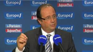 François Hollande sur Europe 1 le 10 janvier 2010.