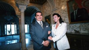 Le président déchu de Tunisie Ben Ali et sa femme Leïla Trabelsi