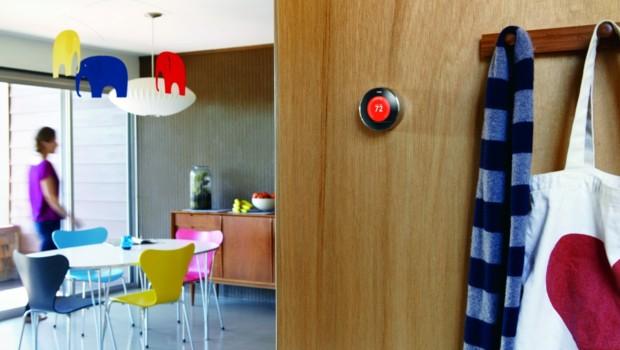 Nest thermostat prétexte objet connecté illustration