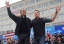 Obama et Bruce Spingsteen dans la Wiconsin, le 5 novembre 2012