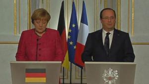 Angela Merkel et François Hollande, le 30/5/13