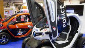 Exemplaires du quadricycle électrique de Renault, la Twizy