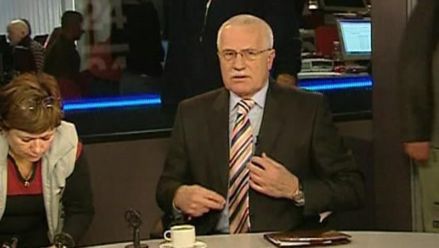 Le président tchèque Vaclav Klaus