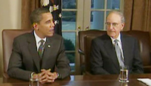 Barack Obama et son émissaire George Mitchell