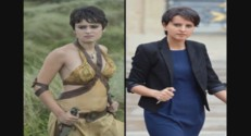 L'actrice Tayen Sand et Najat Vallaud-Belkacem