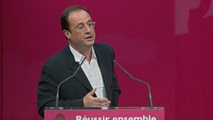 TF1/LCI : François Hollande à la tribune lors de la convention nationale du PS