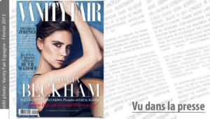 Victoria Beckham en couverture de Vanity Fair Espagne, février 2013.