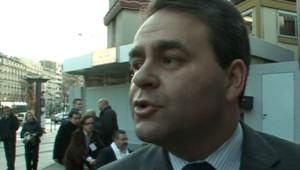 Xavier Bertrand le 12 janvier 2008 au Conseil national de l'UMP