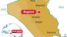Carte de localisation de Bagdad en Irak