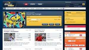 Jeux en ligne : capture écran du site EuroSportBet