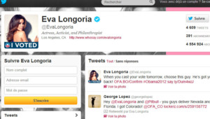 Le compte Twitter d'Eva Longoria