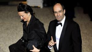 Le couple Woerth, en mars 2010 à l'Elysée