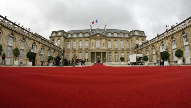 Le Palais de l'Elysée lors de la passation de pouvoirs de 2007