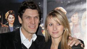 Marc Lavoine et sa femme, le 18 décembre 2006, à Paris
