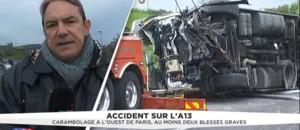 Accident sur l'A13 : la circulation devrait bientôt reprendre