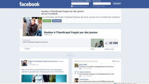 Capture écran page de soutien Facebook un handicapé