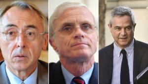 Claude Baland, Bernard Boucault et Patrick Calvar respectivement Directeur général de la police nationale, Préfet de police de Paris et de la Direction centrale du renseignement intérieur.
