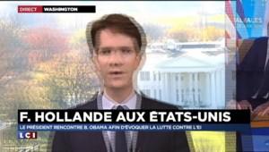 """Coalition internationale : Hollande à Washington, sa """"marge de manœuvre est étroite"""""""