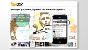 Le site Beezik et sa version iPhone